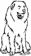 amberdog Pyrenäenberghund Autoaufkleber