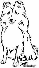 amberdog Sheltie Shetland Sheepdog Auto Aaufkleber