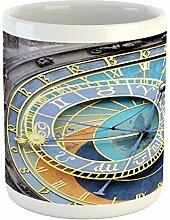 Ambesonne Clock Tasse, Prag, Astronomische Uhr in