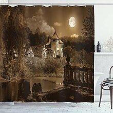 Ambesonne Gothic Decor Duschvorhang-Set, Foto des
