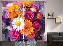 ambesonne Watercolor Flower Decor Kollektion,