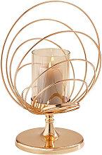 Ambia Home KERZENHALTER, Goldfarben, Metall, Glas,