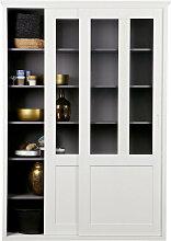 Ambia Home VITRINE Kiefer massiv Weiß , Holz, 5