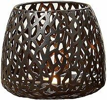 Ambia Home Windlicht, Braun, Höhe ca. 11 cm,