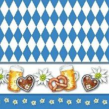 """Serviette /""""Edelweiß/"""" 33 x 33 cm 20er Packung Braun /& Company Serviette Bayern..."""