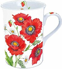 Ambiente Becher - Mug - Tasse Tee / Kaffee - Poppy