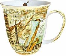 Ambiente Große Porzellan Tasse Becher Teetasse