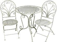 Ambiente Haus Stuhl 3 Stück grau Gartenstühle