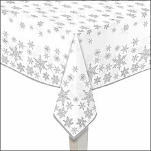 Ambiente Papiertischdecke Schneekristalle 140x220