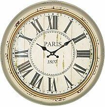 Ambiente - Paris Wanduhr Metall Beige Gold 47cm