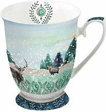 Ambiente Tasse aus feinem Porzellan für