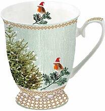 Ambiente Weihnachten Becher Little Robins &