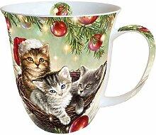 Ambiente Weihnachten Tasse Katzen im Korb Tasse