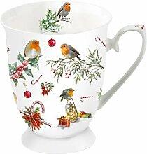 Ambiente Weihnachten Tasse Rotkehlchen und
