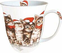 Ambiente Weihnachten Tasse Singen Katzen Becher
