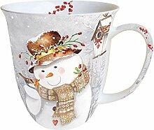 Ambiente Weihnachten Tasse SNOWMAN Porzellan