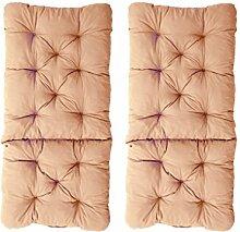 Ambientehome 2er Set Polsterauflage für Klappstuhl, beige, ca 90 x 40 x 8 cm, Kissen Sitzauflage