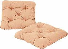 Ambientehome 2er Set Sitzkissen Sessel Evje, beige, ca 50 x 50 x 8 cm, Polsterauflage