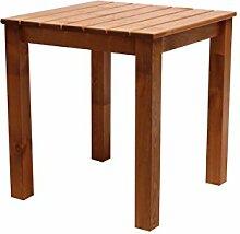 Ambientehome 90469 Gartentisch Esstisch Holztisch Massivholz Stranda braun 67x67x72,5 cm