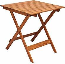 Ambientehome 90476 Gartentisch Bistrotisch Esstisch Klapptisch klappbar Holztisch Massivholz Lotta braun ca. 65x65 cm