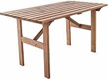 Ambientehome Gartentisch Tisch Massivholz Esstisch