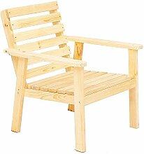 Ambientehome Massivholz Stuhl GRETA Sessel Gartenstuhl Gartenmöbel Natur
