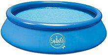 Ambientehome Quick Up Easy Aufstellpool, blau, 366 x 366 x 76 cm, 5568 L, 26013