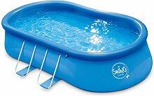 Ambientehome Quick Up Easy oval Aufstellpool, blau, 457 x 274 x 107 cm, 8667 L, 26024