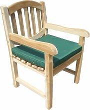 Ambientehome Sitzkissen Auflage für Stuhl, dunkelgrün