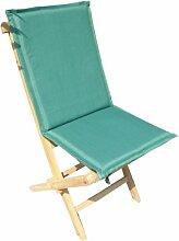 Ambientehome Sitzkissen mit Rückenteil Auflage für Stuhl, dunkelgrün