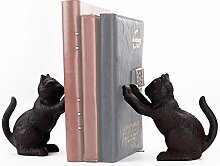 Ambipolar Dekorative Buchstütze mit Katzenmotiv,