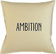Ambition Motivation Goals Kissenbezug Haus Sofa Bett Dekor Beige