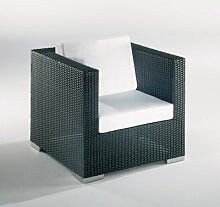 Ambon Cubes Polyrattan-Lounge Modul 1 in schwarz