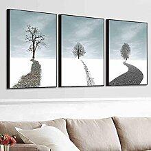 AMCER 2-3 Leinwand Wandkunst - Schwarz-Weiß