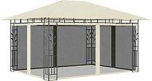 Amdohai Pavillon mit Moskitonetz 4x3x2,73 m Creme