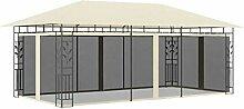 Amdohai Pavillon mit Moskitonetz 6x3x2,73 m Creme