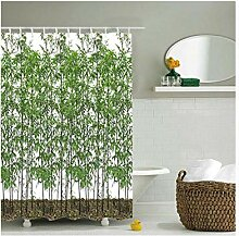 AMDXD Duschvorhang Polyester Bambus Muster Vorhang