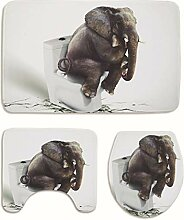 AMDXD Set Flanell 3 Pcs Toilettenmatte Teppich