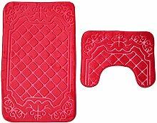 AMDXD Set Polyester 2 Pcs Toilettenmatte Teppich