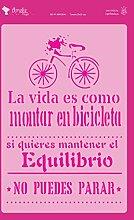 Amelie Prager amp03044Stencil Fonds Fahrrad,