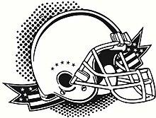 Amerian Football Helm Wandaufkleber Abziehbilder