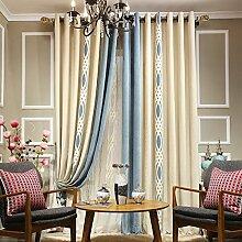 """American bedruckte Baumwolle Garten Fenster Vorhang , Garn , 2*(42W x 96""""""""L)"""