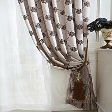 """American bedruckte Baumwolle, Leinen Garten Fenster Vorhang , 2*(50W x 96""""""""L)"""