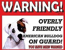 American Bulldog Guard Dog Metall Schild 7