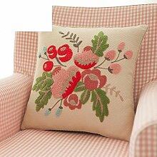 American Country Bett Kissen/PP Baumwoll-Kissen/Sofa-Bett halten Baumwolle Kissenbezug-A 45x45cm(18x18inch)VersionA