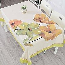 American Country Couchtisch Tischdecke/Tabelle Tuch Pastorale Baumwolle Und Leinen Tischdecken-J 100x140cm(39x55inch)