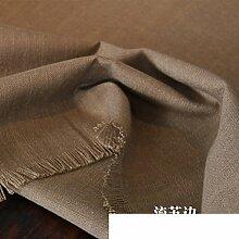 American Country Leinen Tuch Tischdecke,Tee Tischdecke-D 140x140cm(55x55inch)
