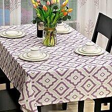 American Country Stil Esszimmer Tischdecke/Bedeckung-tuch/Hotel Garten-tischdecke/Wohnzimmer Couchtisch Stoff Tischdecke-E 135x200cm(53x79inch)