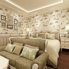American Country-Tapete Östliches Mittelmeer Tapete Retro-Tapete Kinder Zimmer Tapeten Schlafzimmer Umgebung für Jungen und Mädchen Wallpaper Vliestapete-A