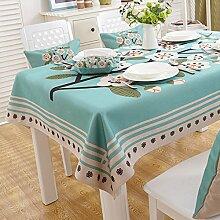 American Country Tischdecken/ Tischtuch/ Tischtuch/Pastorale Baumwolle Tischdecke/Verdicken Sie Tuch/ längliche Tischdecke-E 140x140cm(55x55inch)